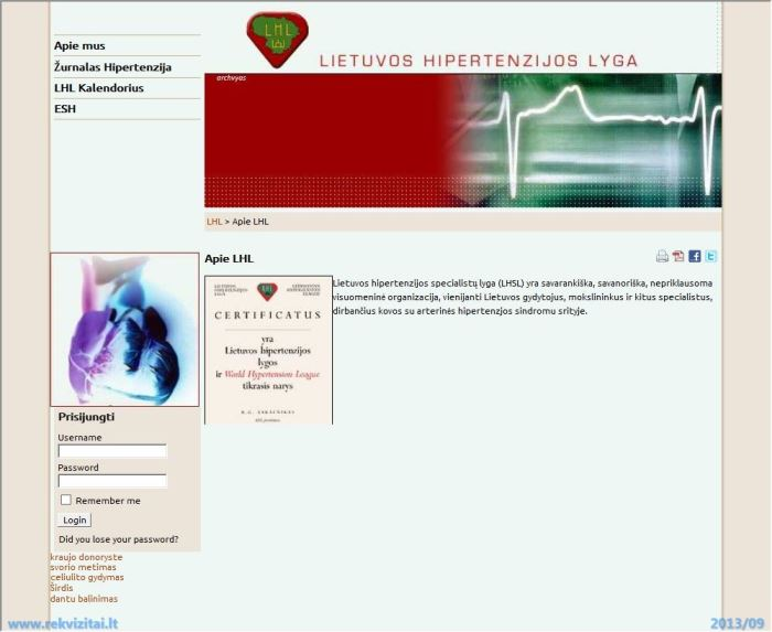 hipertenzijos lyga
