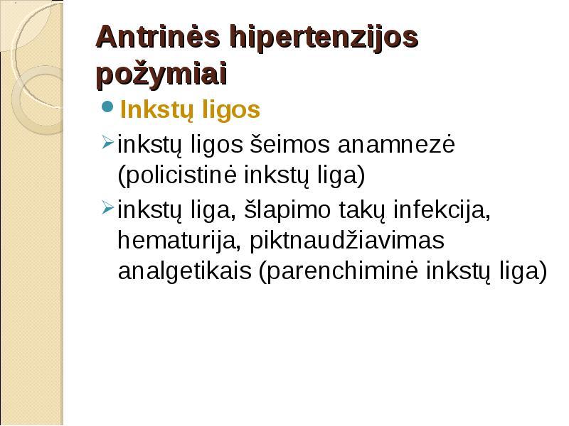 kas yra inkstų hipertenzija