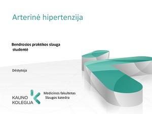 hipertenzijos gydymas slaugoje