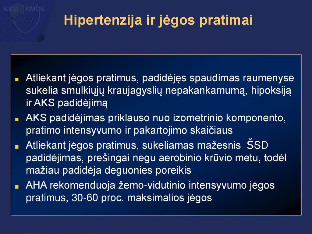 hipertenzijos ir jėgos pratimai)