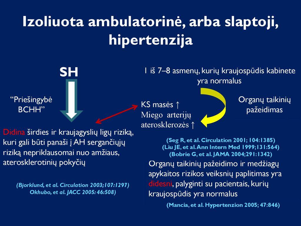 1 laipsnio hipertenzija, kurios pagrindu diagnozė