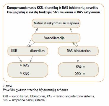 hipertenzijos gydymo algoritmai