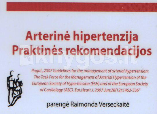 hipertenzijos klasifikacijos aprašymas)