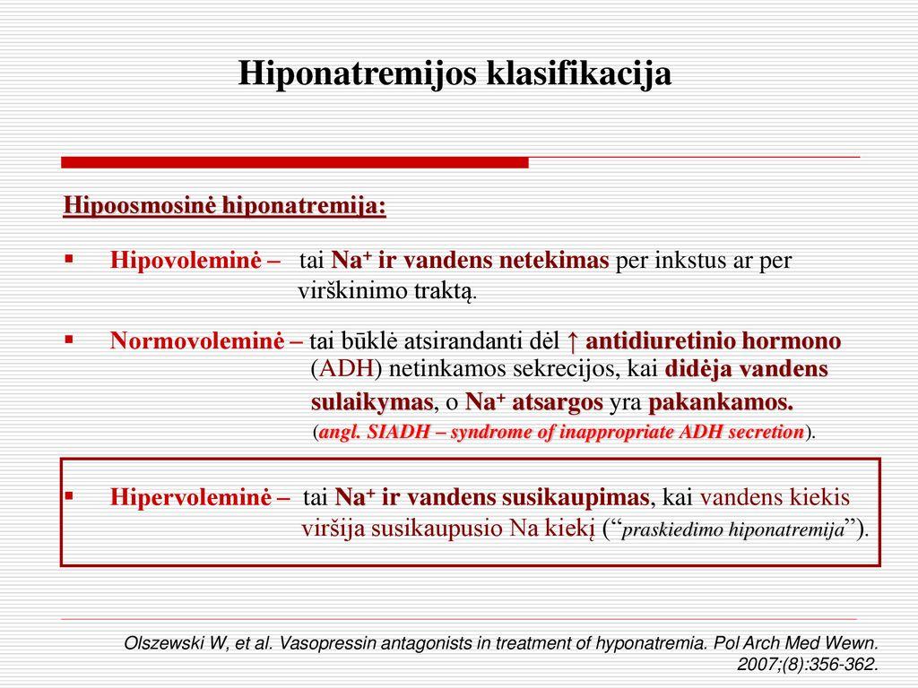 natrio sulaikymo hipertenzija hipertenzija magne b6