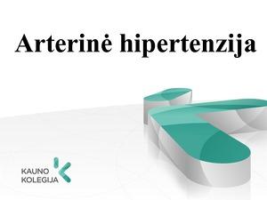 hipertenzijos klasifikacijos aprašymas