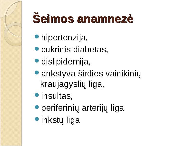 diabeto ir hipertenzijos priežastys