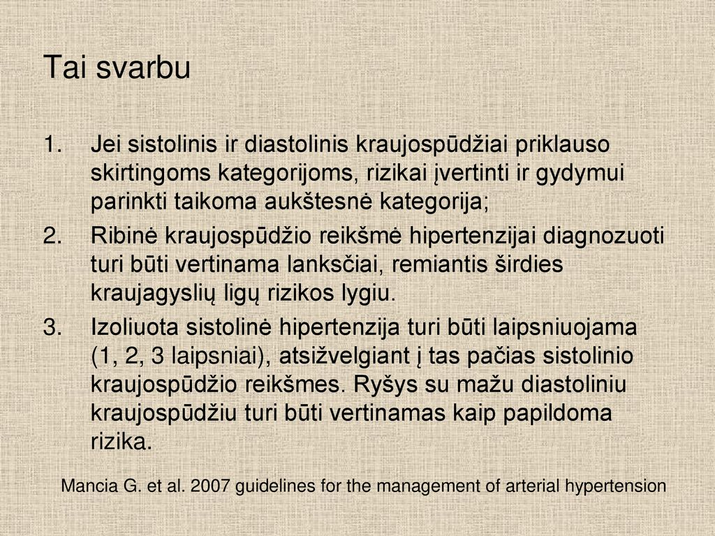 spalvos hipertenzija)