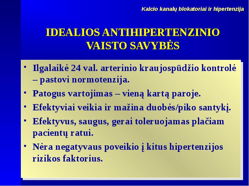 hipertenzija ir kontrolė)