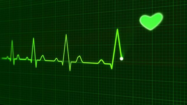 sveikatos širdies susitraukimų dažnis per minutę)