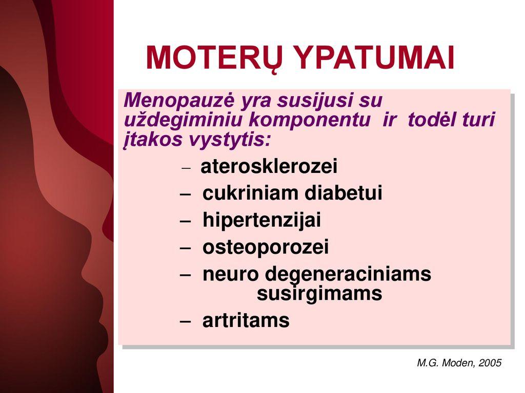 menopauzė su hipertenzija ir cukriniu diabetu)