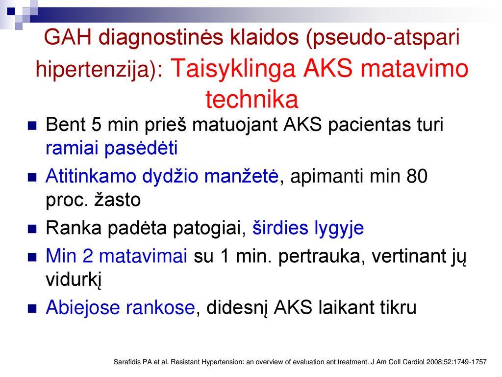 kas yra hipertenzijos gydymas