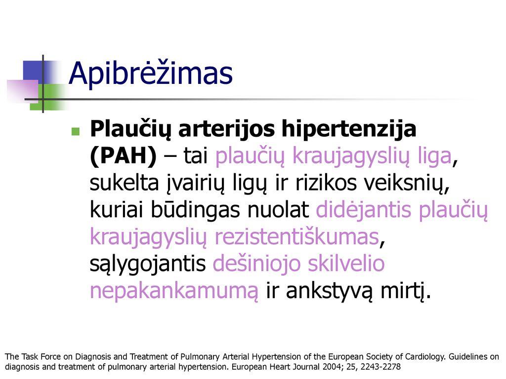 kas yra veninė hipertenzija