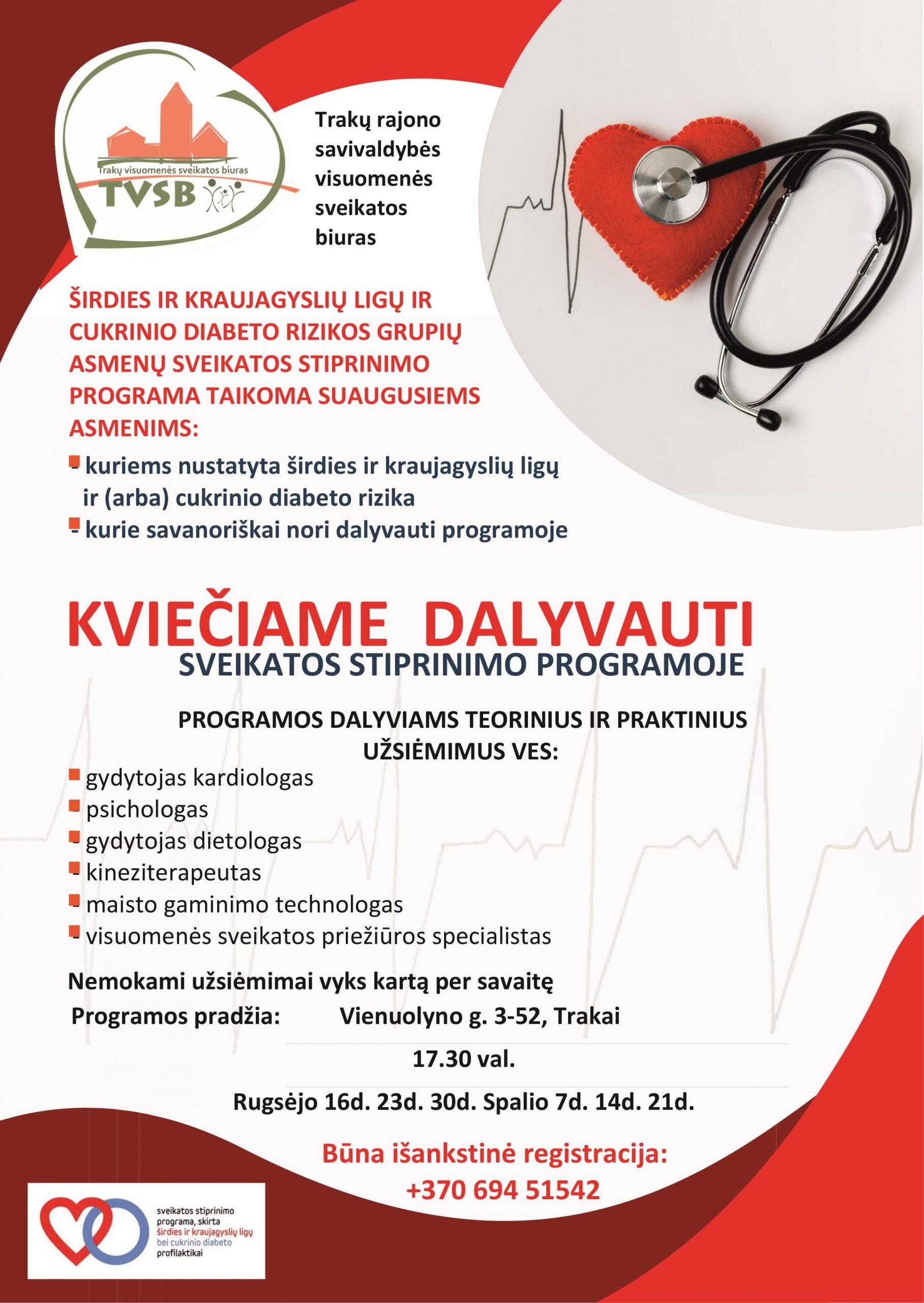 hipertenzija programoje gyventi sveikai