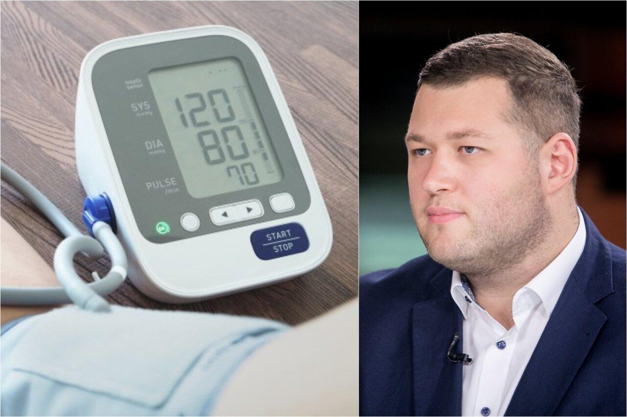 hipertenzija sergantis vyras)