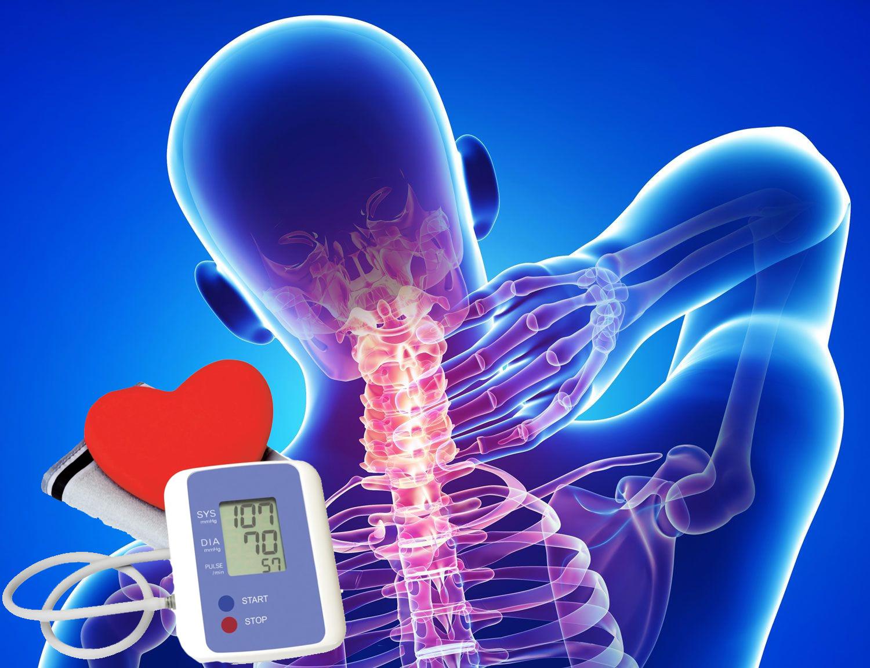 hipertenzija gali atsirasti dėl osteochondrozės