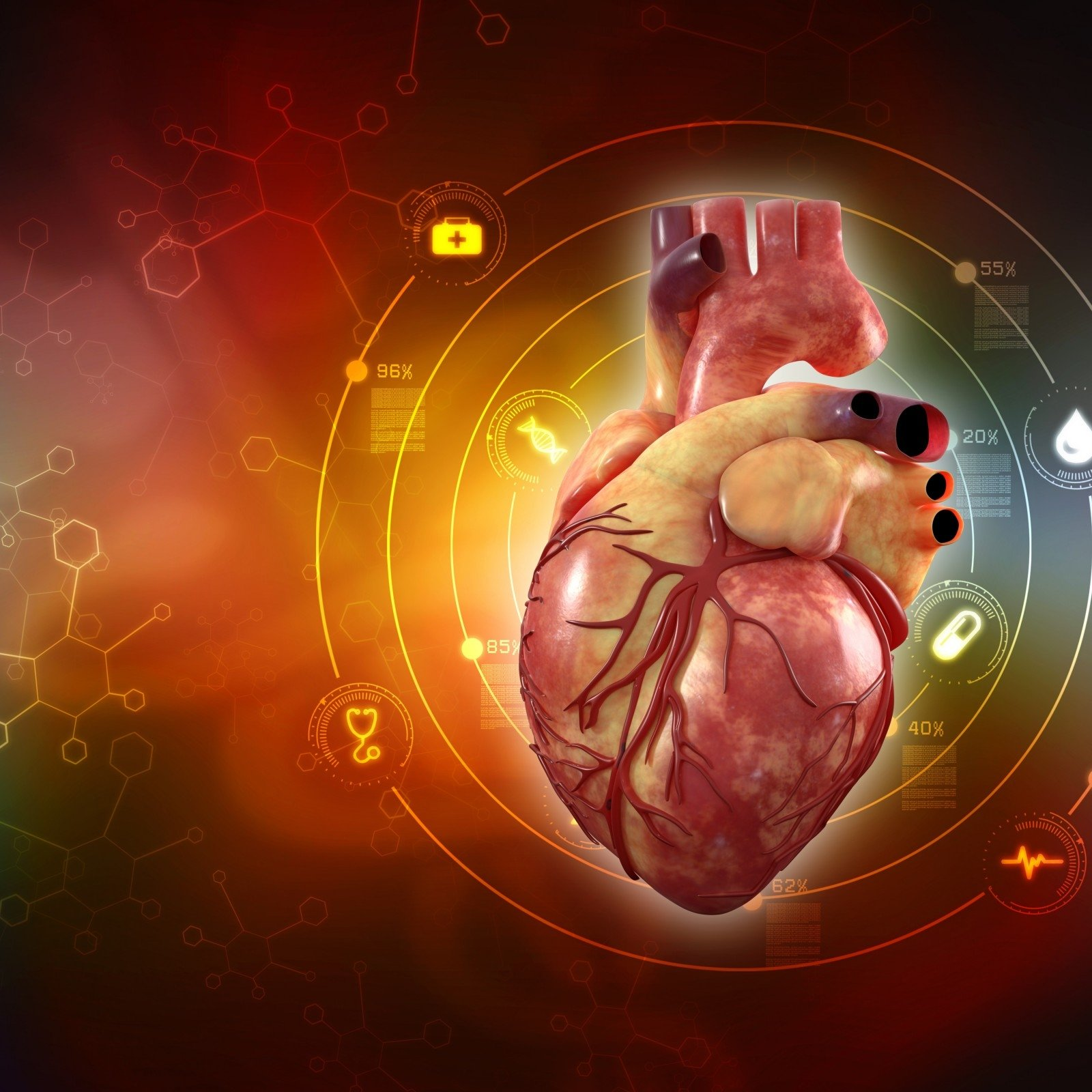 sveikatos problemų, susijusių su širdies ligomis