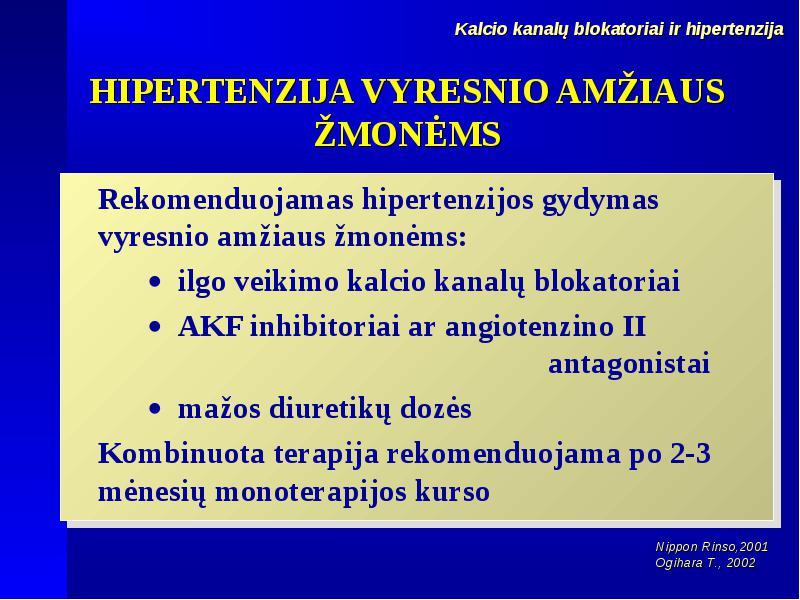 kurso hipertenzija)