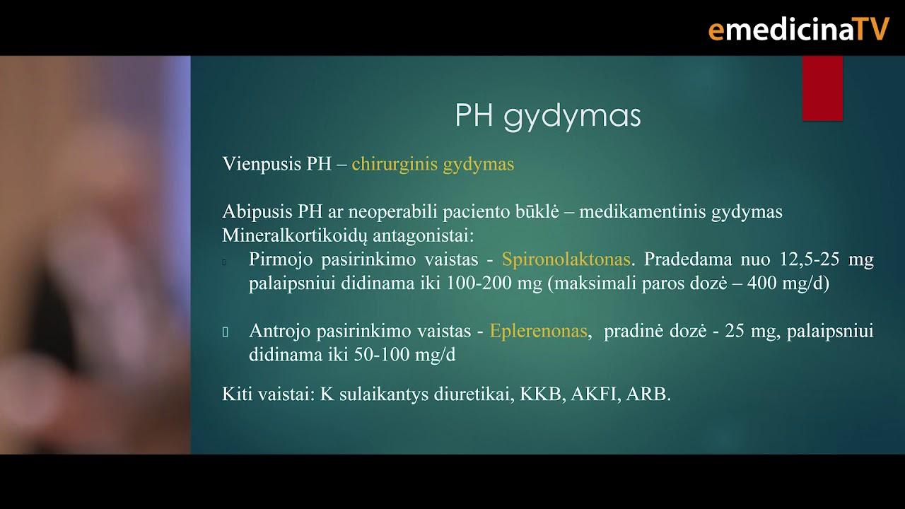 hipertenzijos medikamentinis gydymas)
