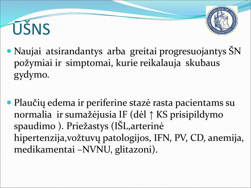 edemos hipertenzijos gydymas