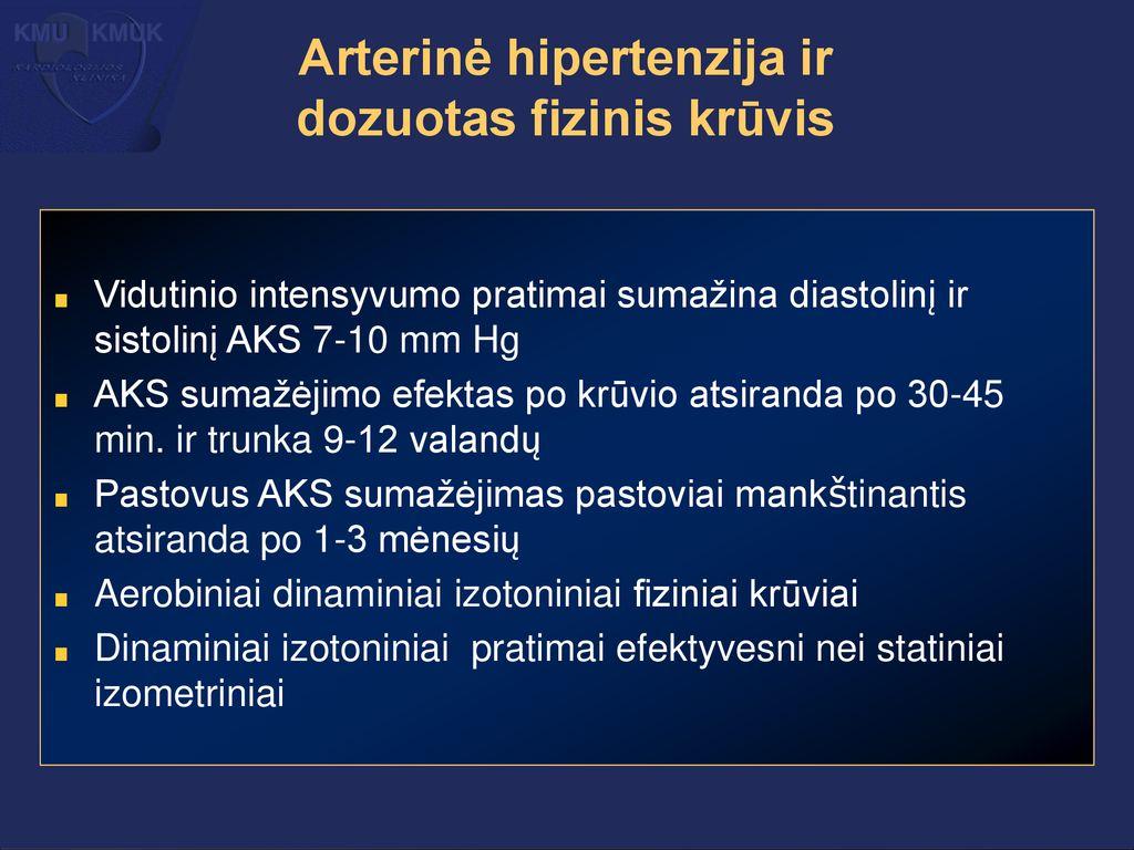 hipertenzijos akcijos
