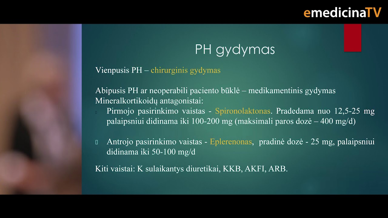 endokrininės hipertenzijos diagnostika