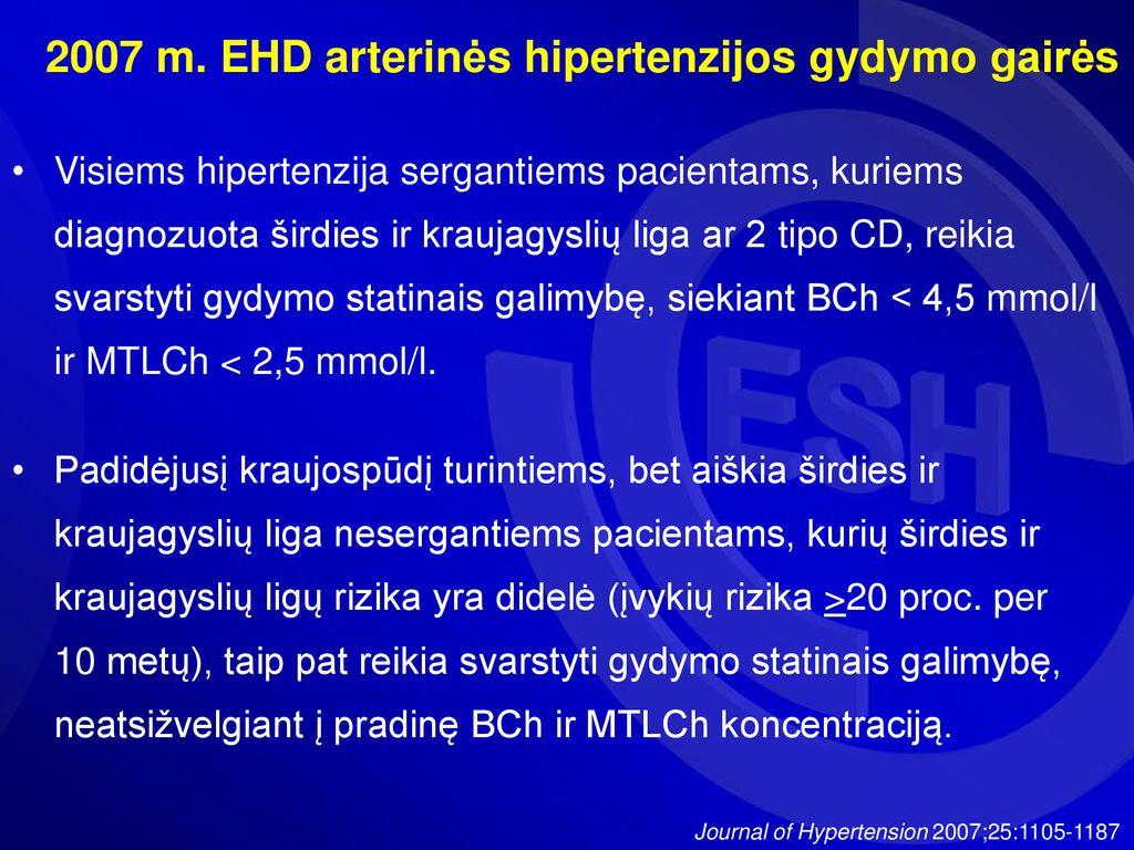 vaistai nuo hipertenzijos statinai