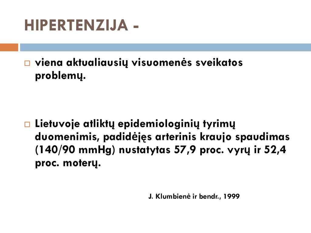 hipertenzija 1 laipsnio 1 stadija