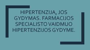 gydymas hipertenzija paprastas širdies sveikatos tyrimas