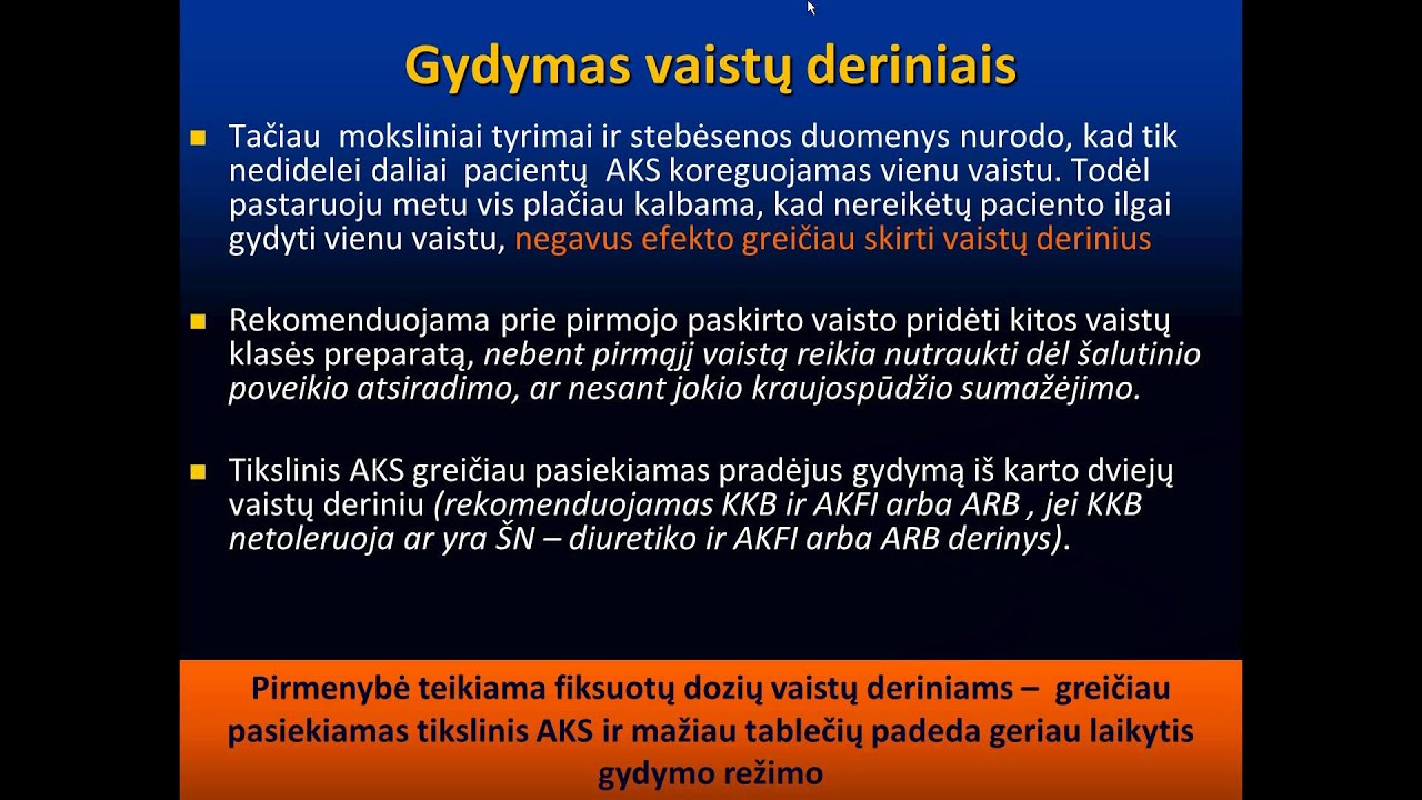 hipertenzija gydoma diuretikais