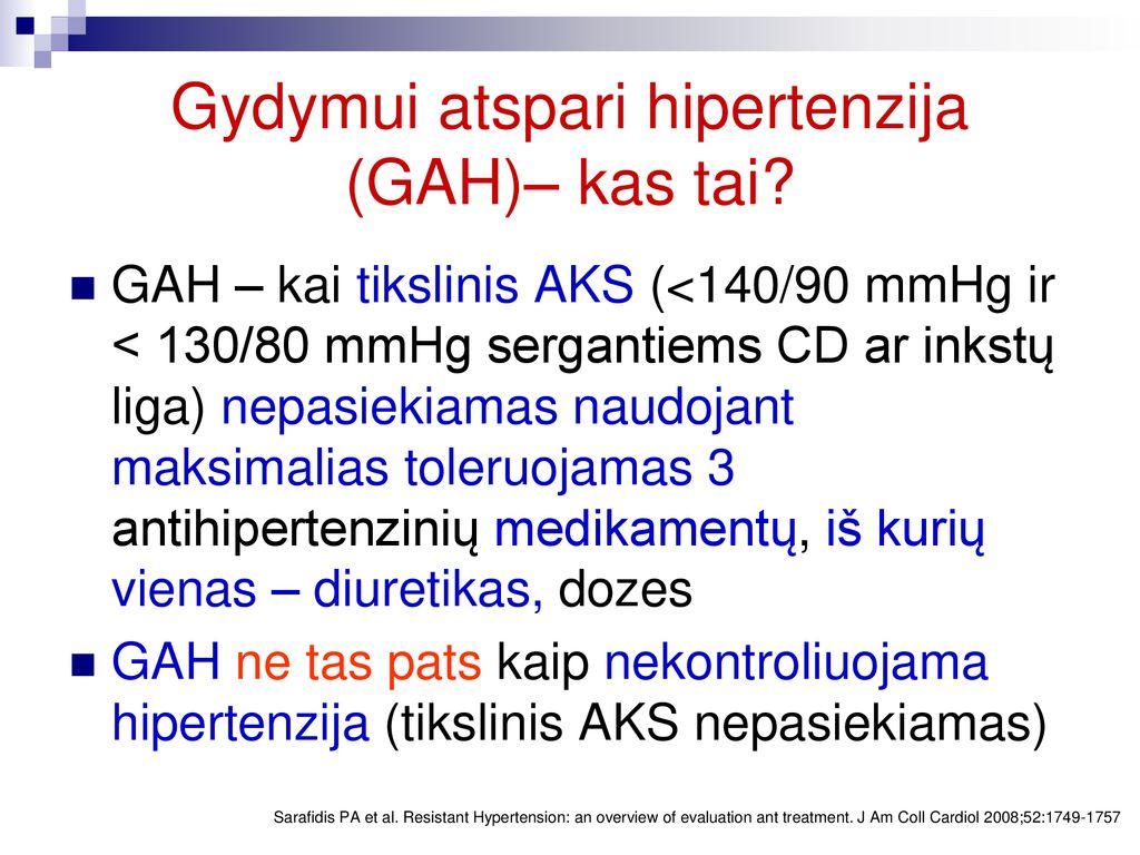 kas yra vidutinė hipertenzija