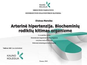 kraujo biochemija sergant hipertenzija