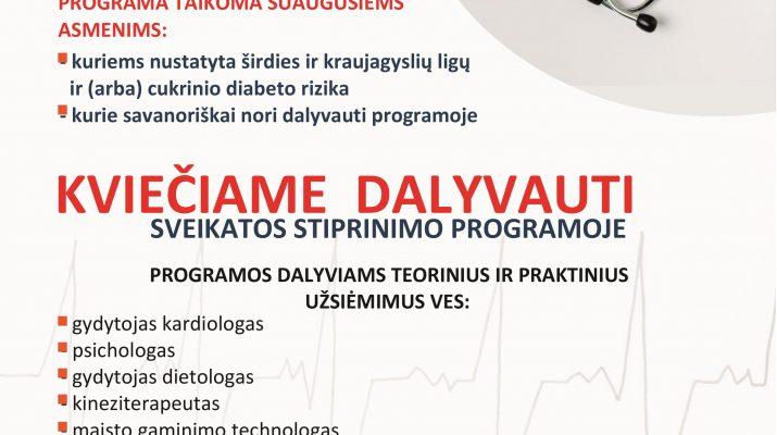 programa gyventi sveika hipertenzija