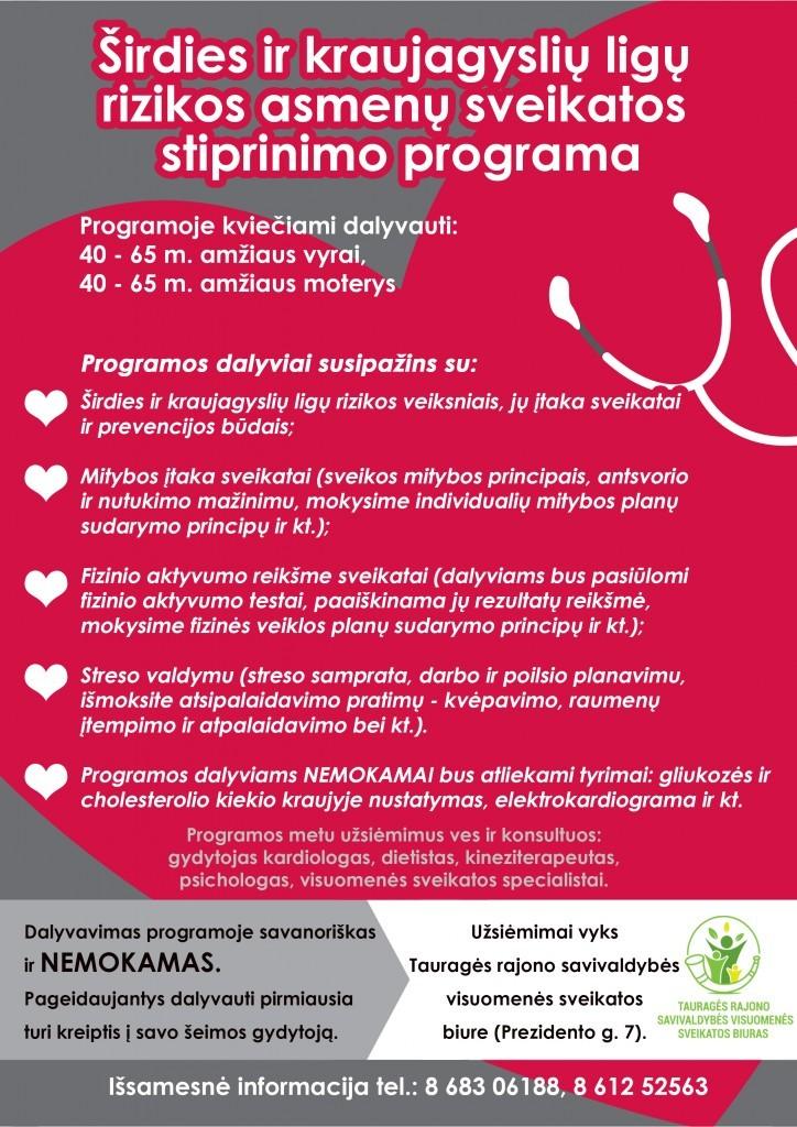 Žingsniai širdinės sveikatos link