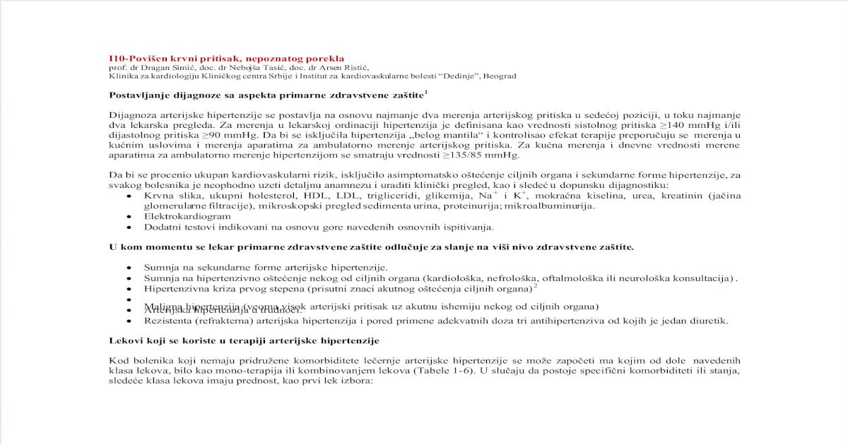 lek-va sergant hipertenzija)