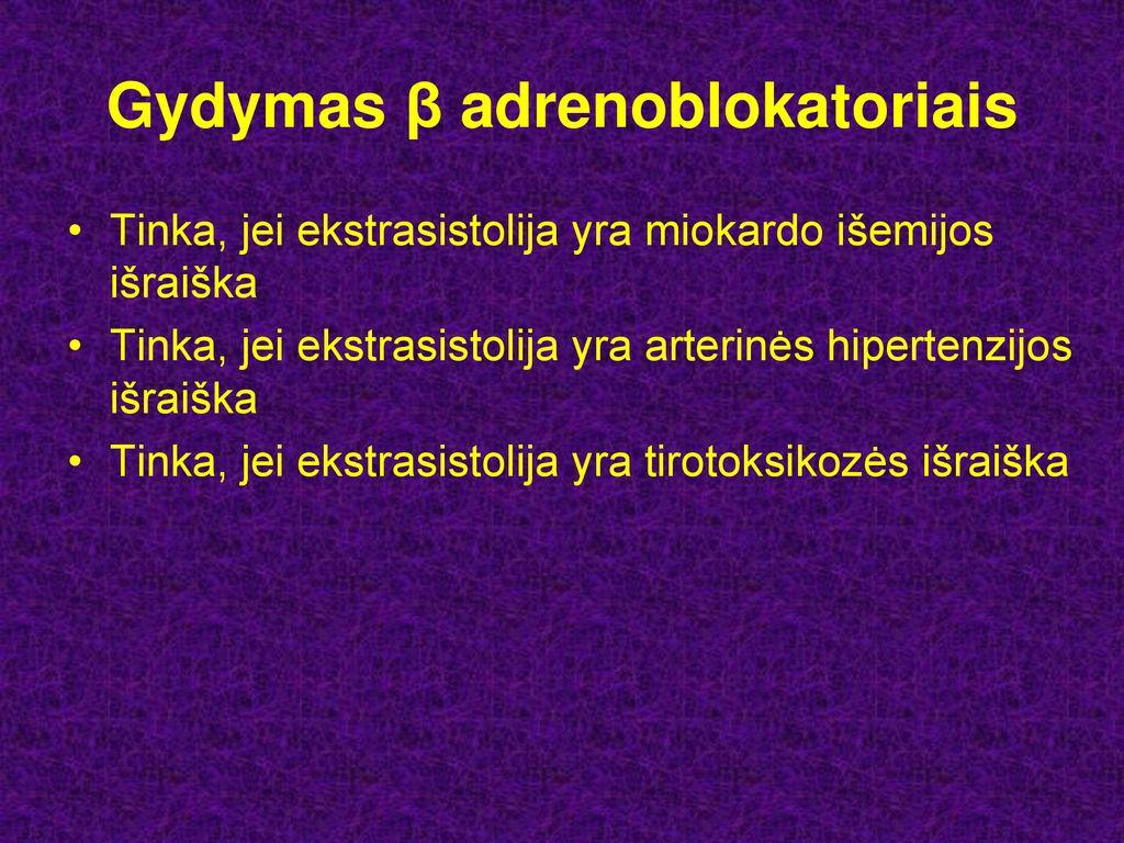 tirotoksikozė gydant hipertenziją