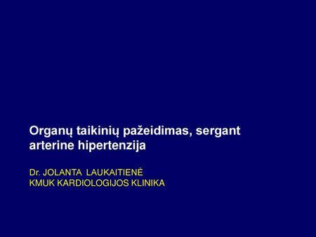 hipertenzija ir skaitymas