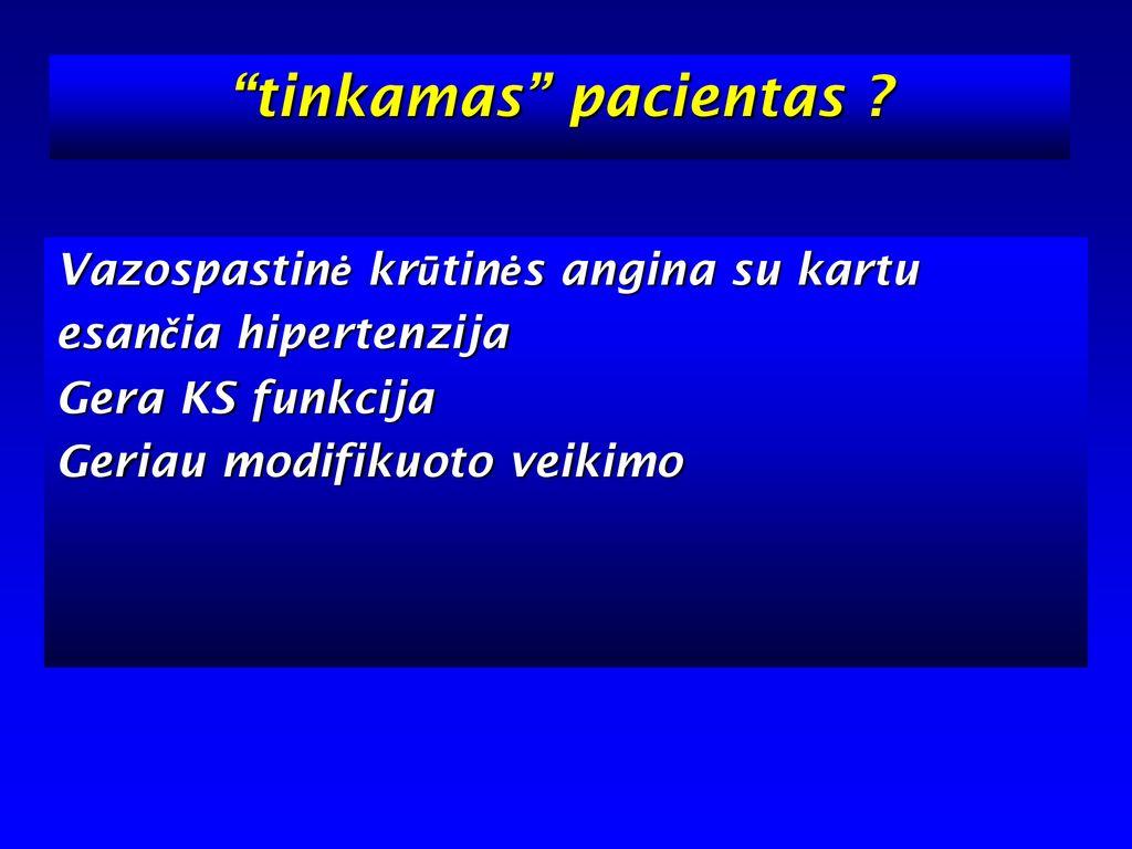 Mikrovaskulinė krūtinės angina ir sisteminė hipertenzija