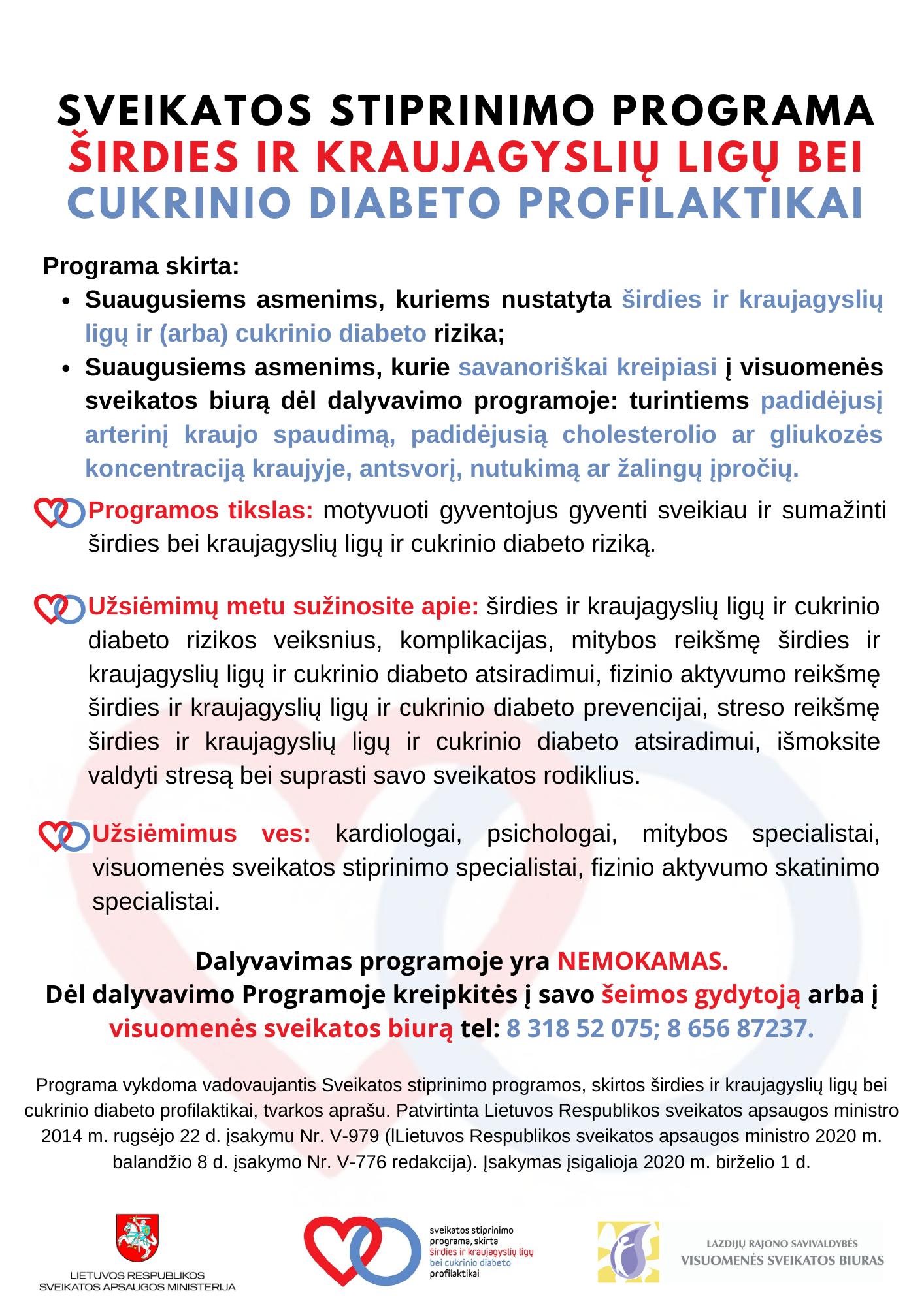 diabetas ir širdies sveikata