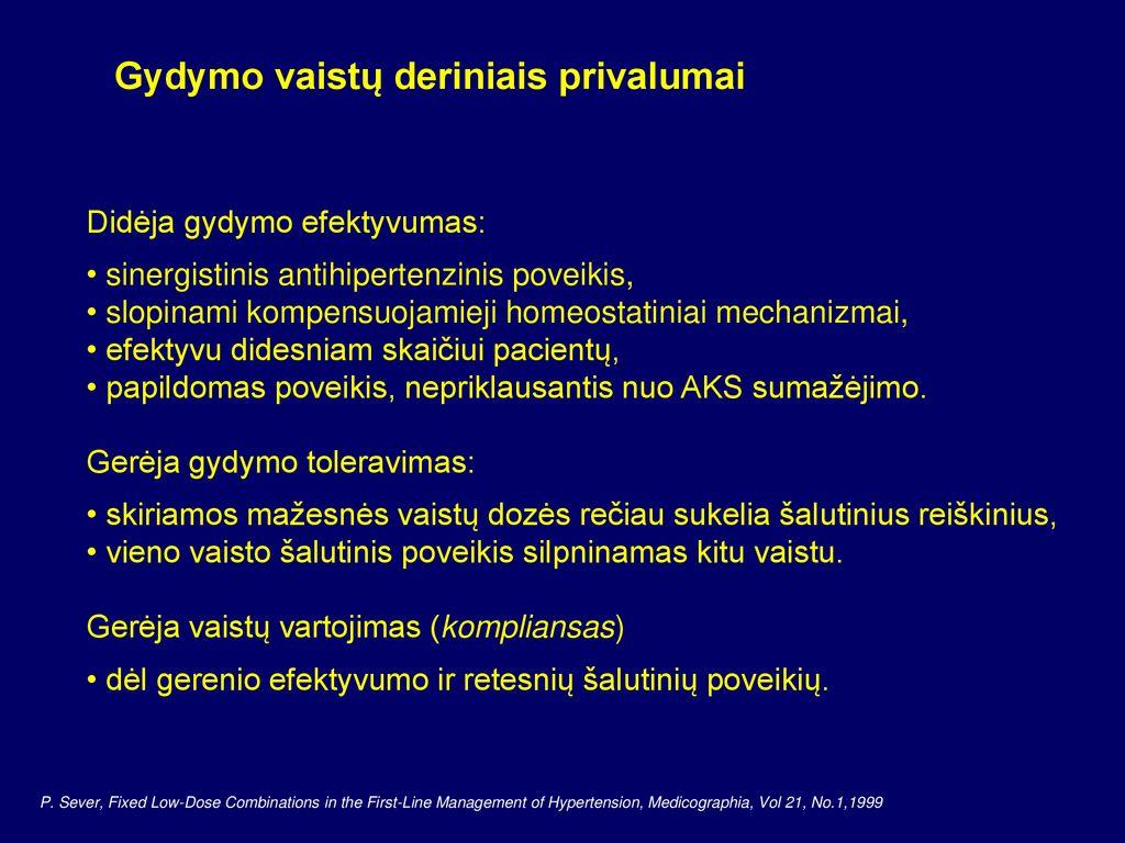 vaistas nuo hipertenzijos be šalutinio poveikio vyrams