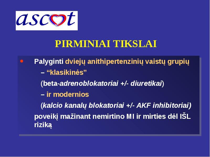 beta adrenoblokatorių vaistai nuo hipertenzijos)