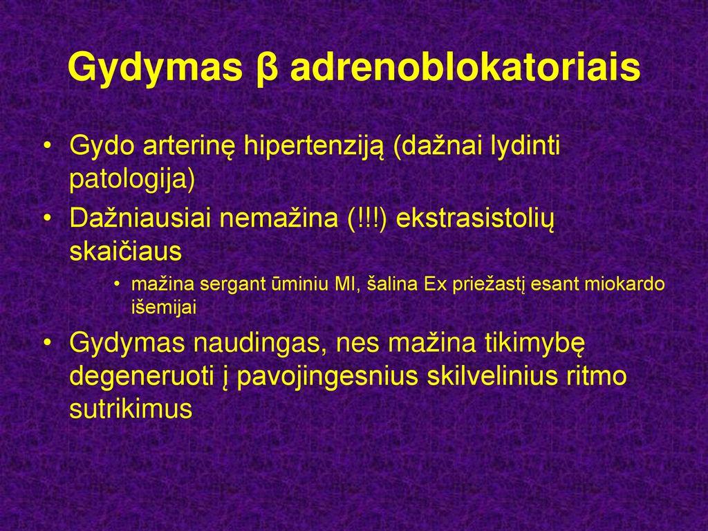 hipertenzija ir aritmijos gydymas