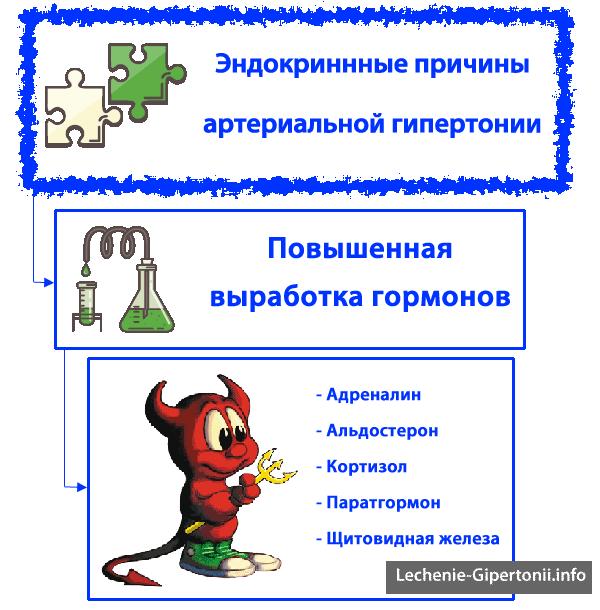 endokrininė hipertenzija)