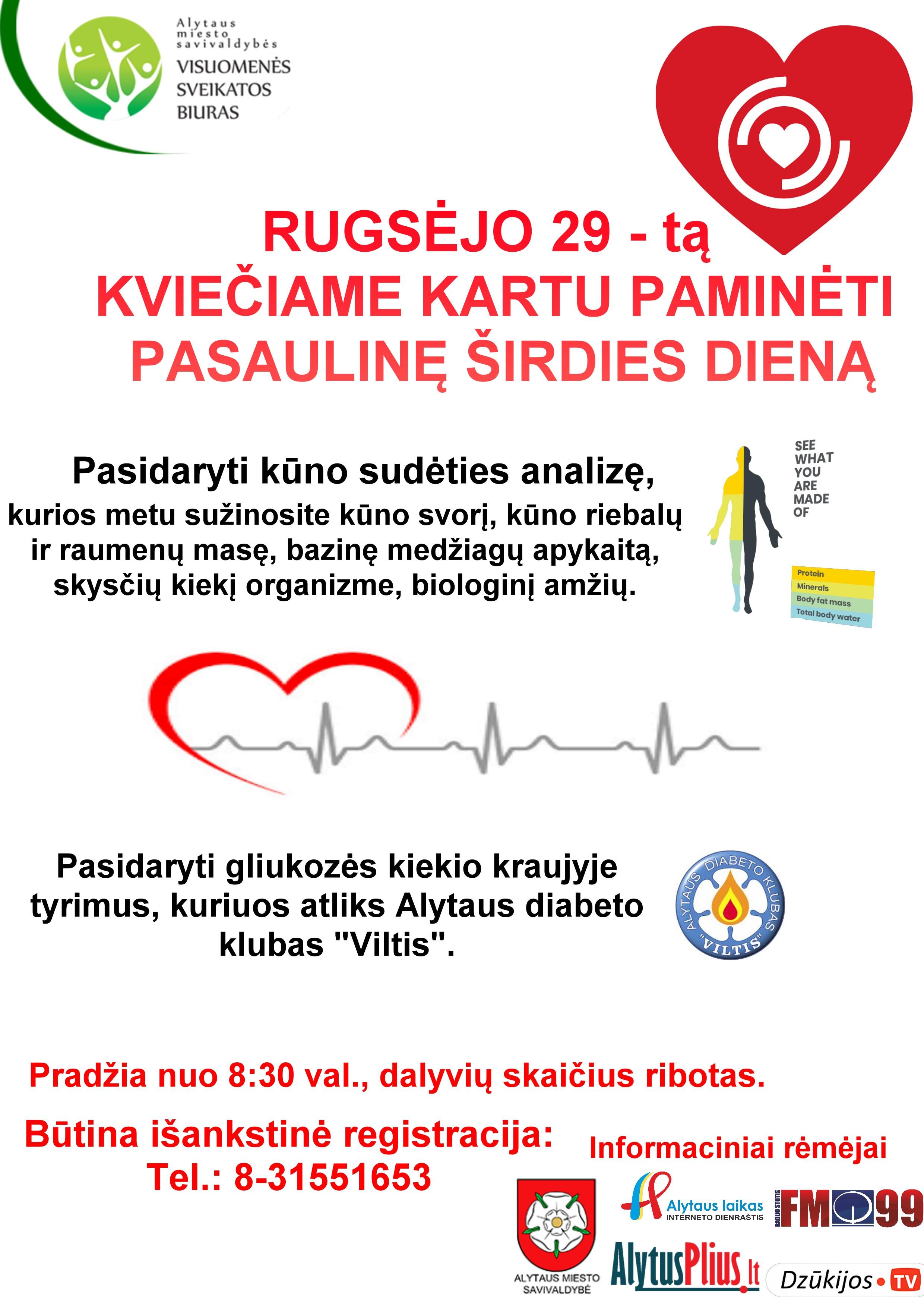kraujo tyrimai širdies sveikatai)
