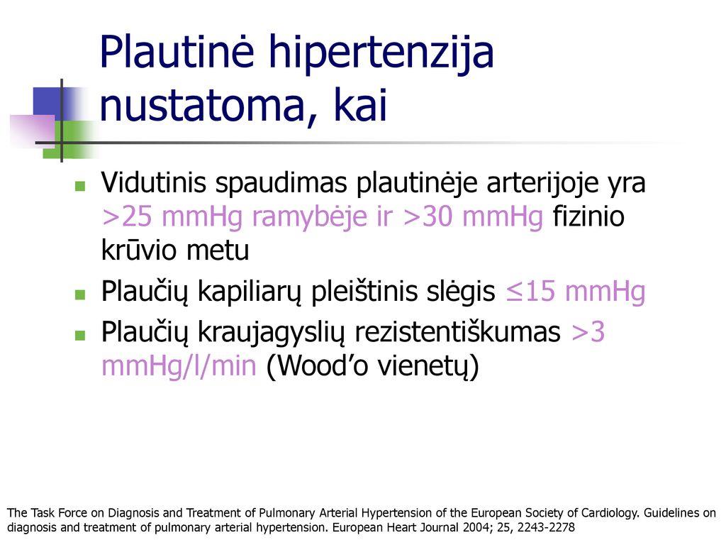 hipertenzijos gydymo galimybės