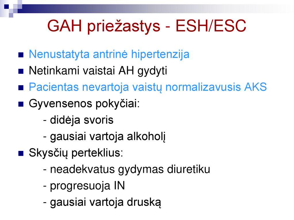hipertenzija gydymas kas)