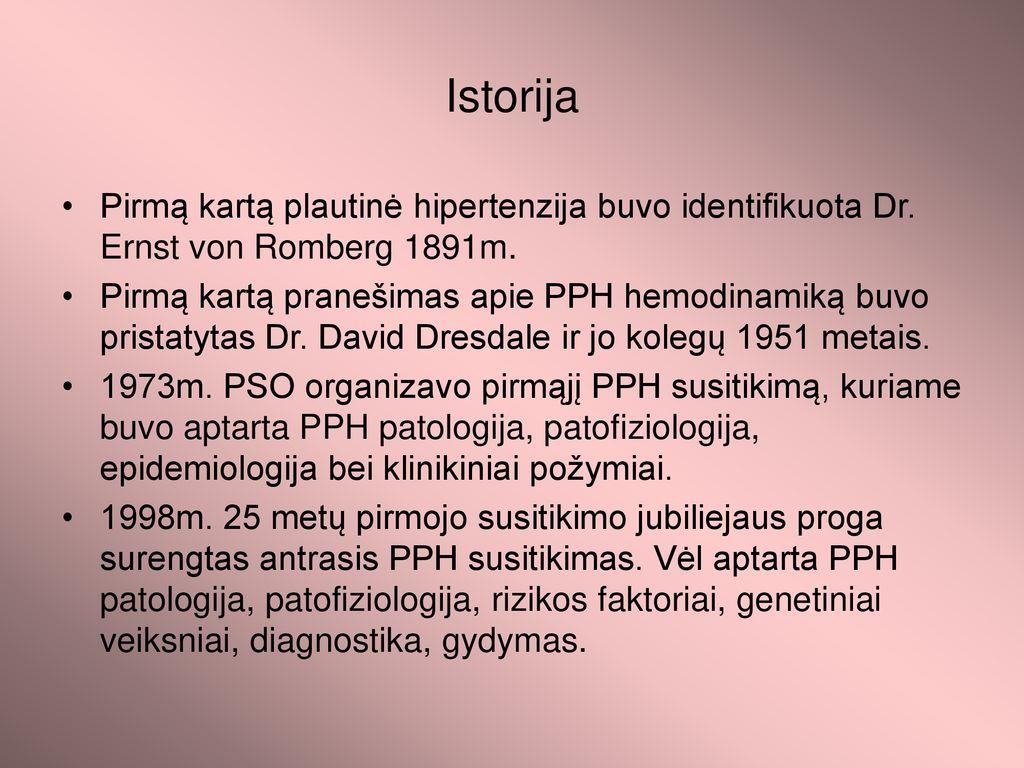 hipertenzija jos pasireiškimas)