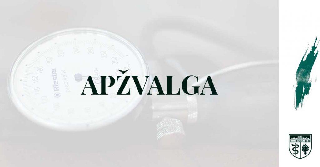 hipertenzijos vaistų apžvalgos)